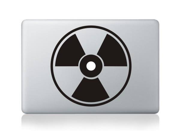 MacBook sticker Radioaktiv
